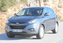 HYUNDAI iX35, Front + links, Stationwagon, Silbergrau