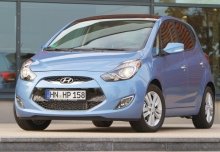 HYUNDAI iX20, Front + links, Hatchback, Blau