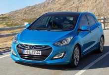 HYUNDAI i30, Front + links, Hatchback, Blau