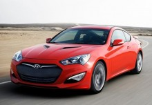 HYUNDAI GENESIS, Front + links, Coupé, Rot