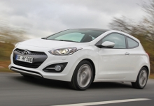 HYUNDAI i30, Front + links, Hatchback, Weiss
