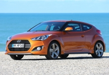 HYUNDAI VELOSTER, Front + links, Coupé, Orange